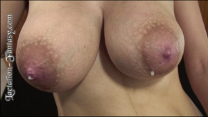 large latch-on ready nipples in auto-drip mode